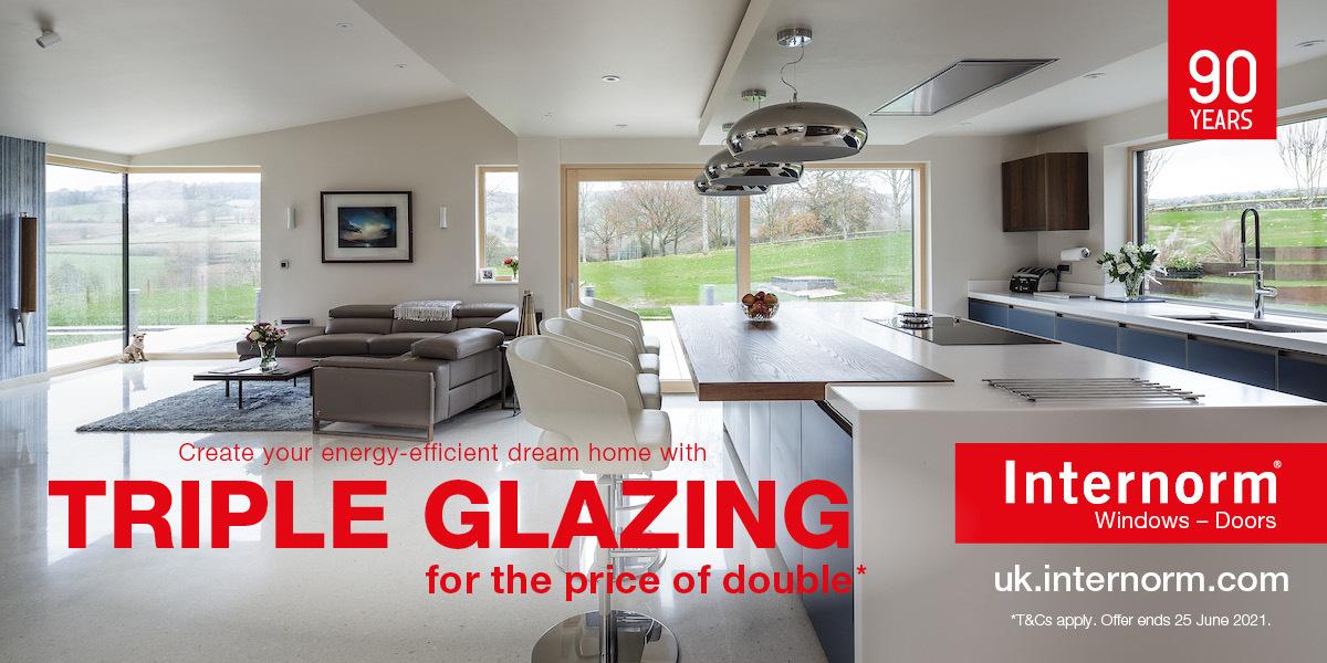 Free triple glazing upgrade