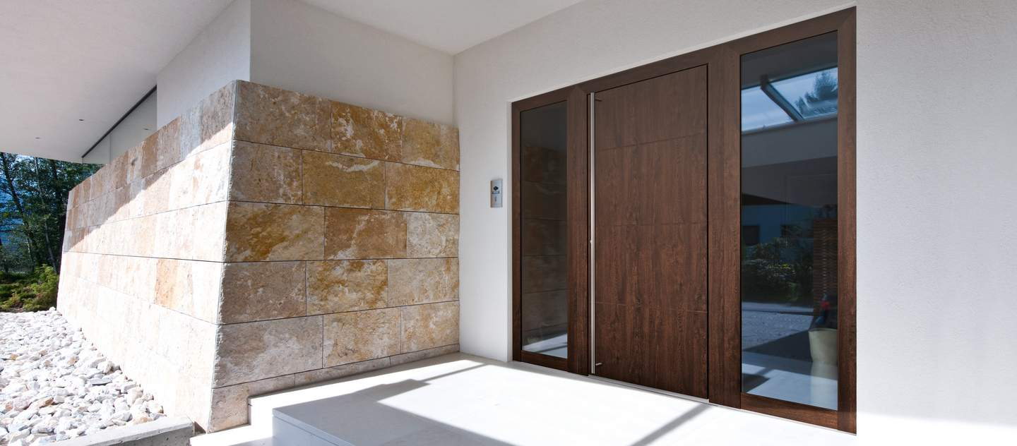 timber aluminium entrance doors